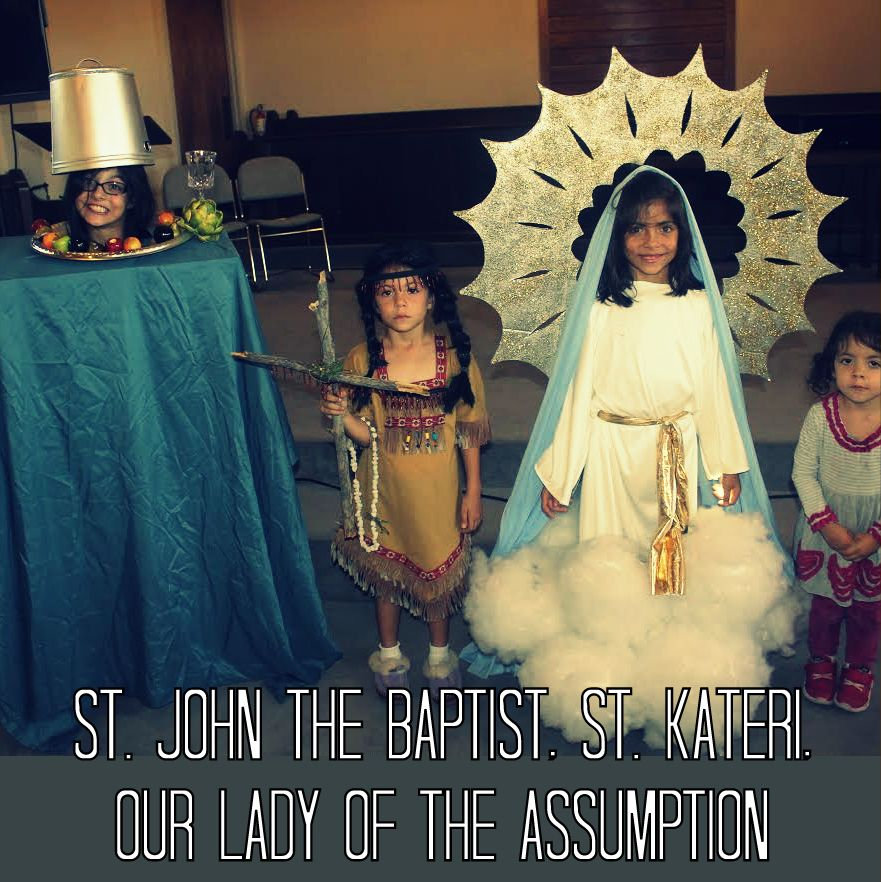 Each one of these costumes is truly stunning. Seriously. How lucky are your  kids  But I m pretty sure Our Lady of the Assumption has LIGHTS in her  CLOUDS. b68c1c671383