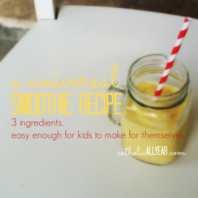 Kids Cook for Themselves: A Universal Smoothie Recipe