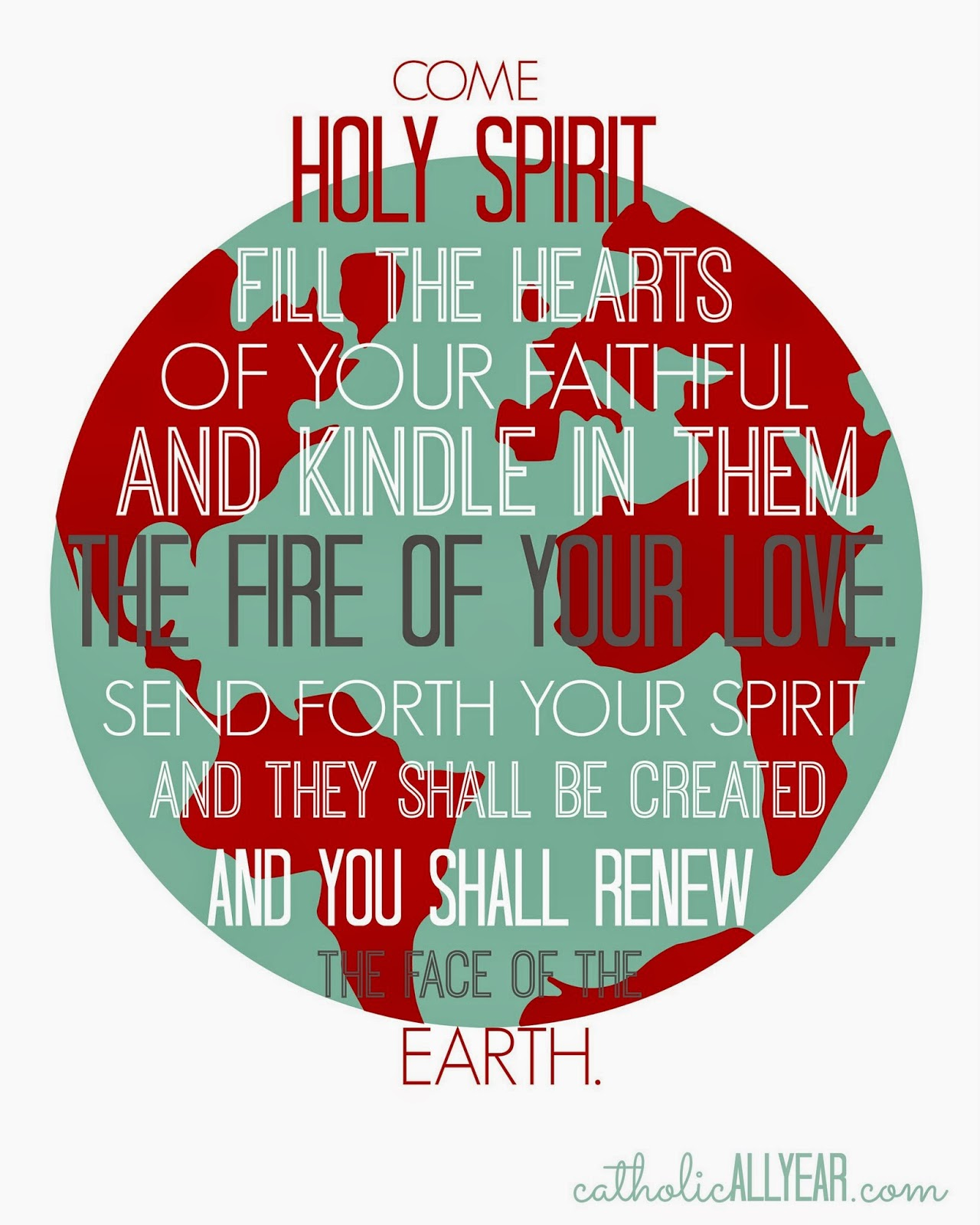image regarding Come Holy Spirit Prayer Printable titled Pentecost is Coming: Social gathering Plans and Absolutely free Printables