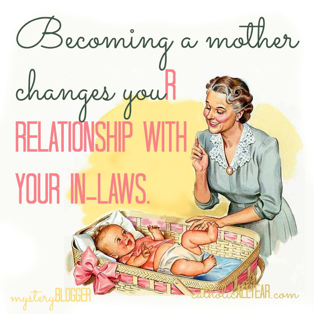 Becoming a Mother Changes Your Relationship with Your In-Laws: Mystery Blogger Series