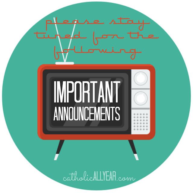 Please Stay Tuned for the Following Important Announcements . . .