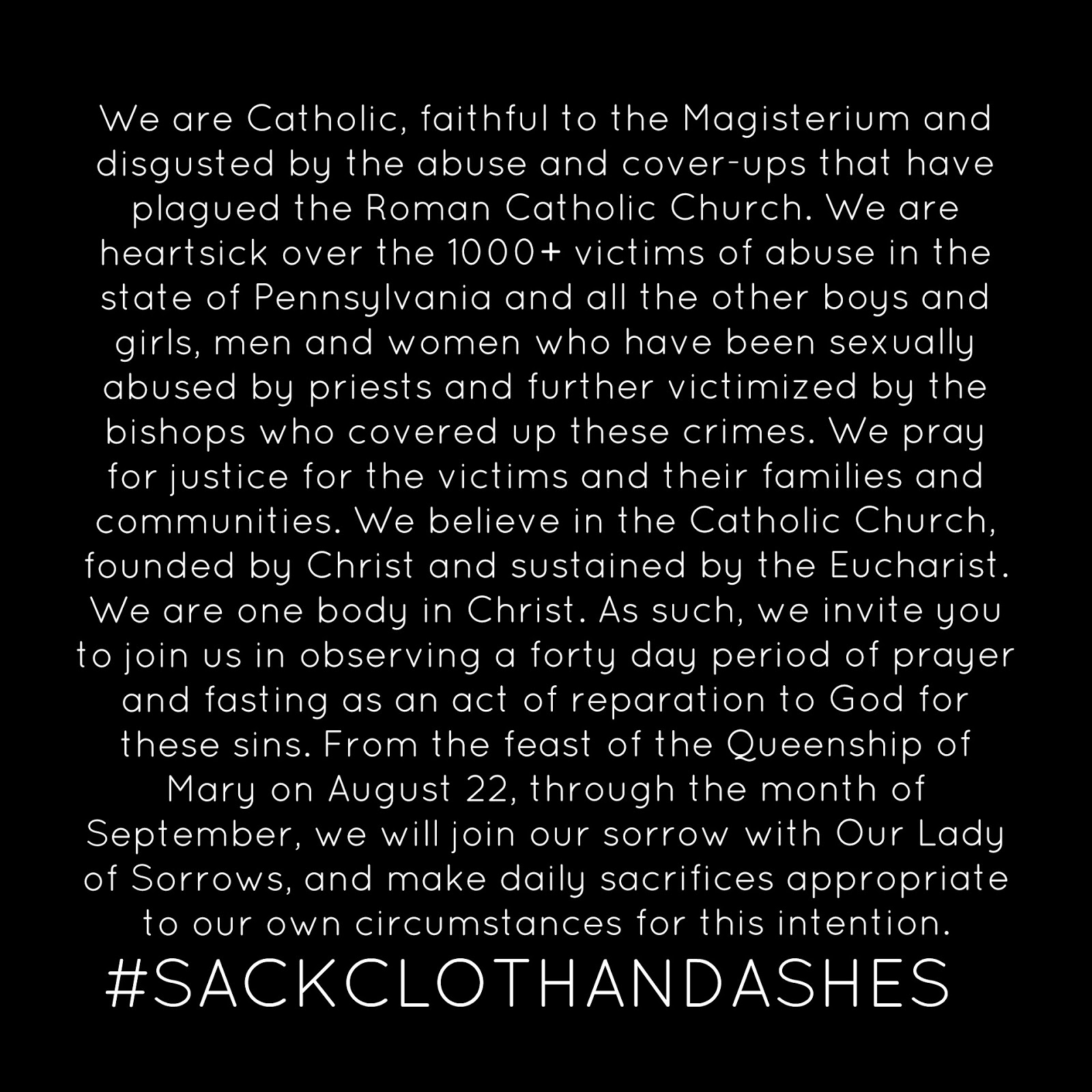 Sexual Abuse, Sackcloth, and Ashes: Meeting Scandal with