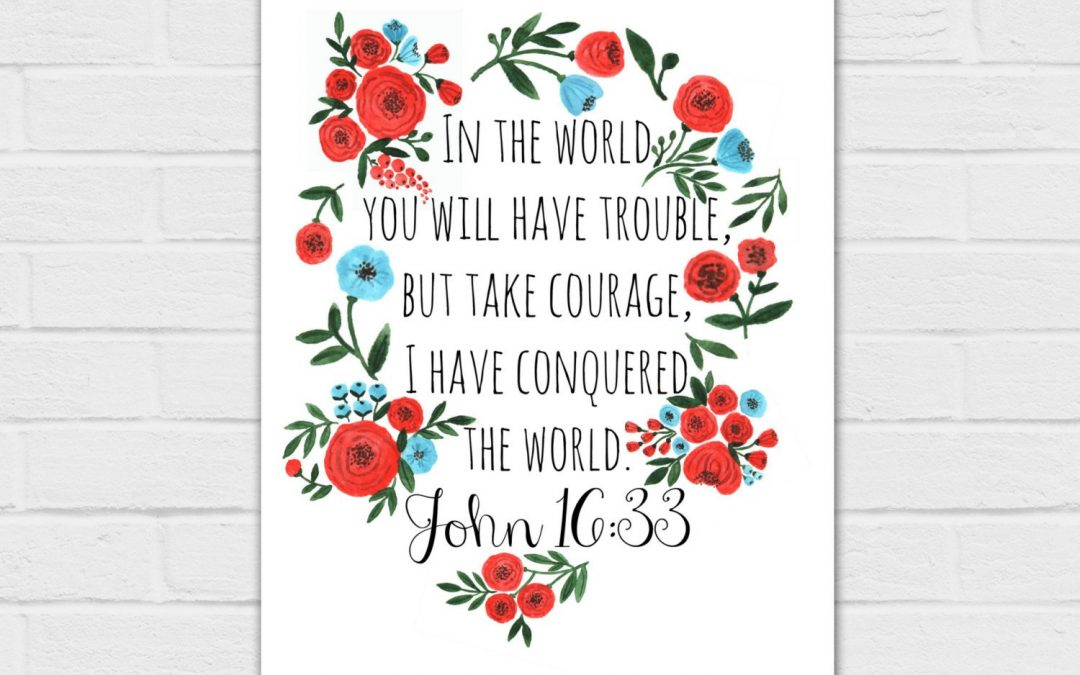 In The World You Will Have Trouble, But Take Courage {digital download} 8×10 and SQUARE, two colors