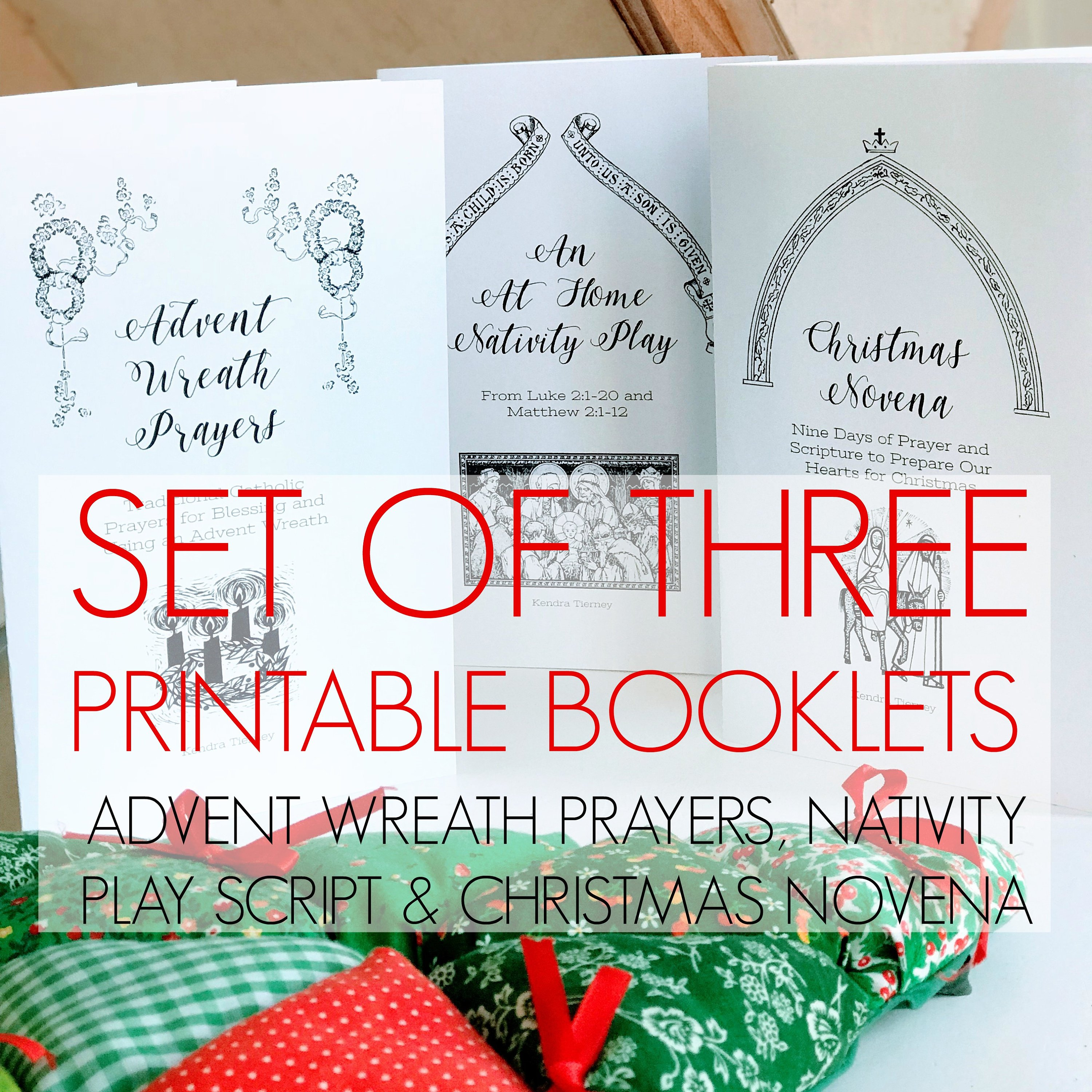 image relating to St Andrew Novena Printable referred to as Preset of A few Printable Booklets: Arrival Wreath Prayers, Xmas Novena, Nativity Participate in Script *electronic down load*