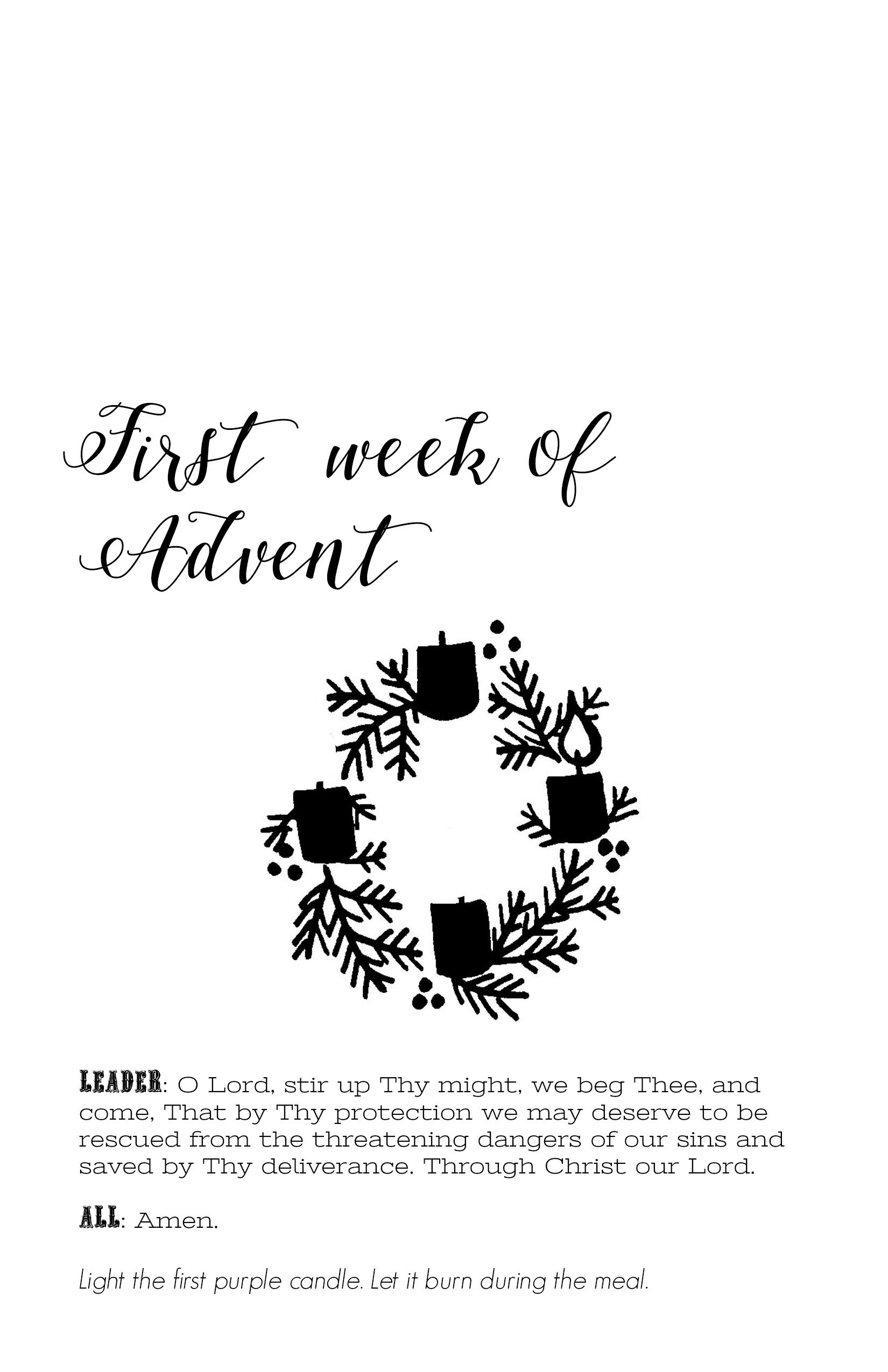 This is a photo of Old Fashioned Advent Wreath Printable