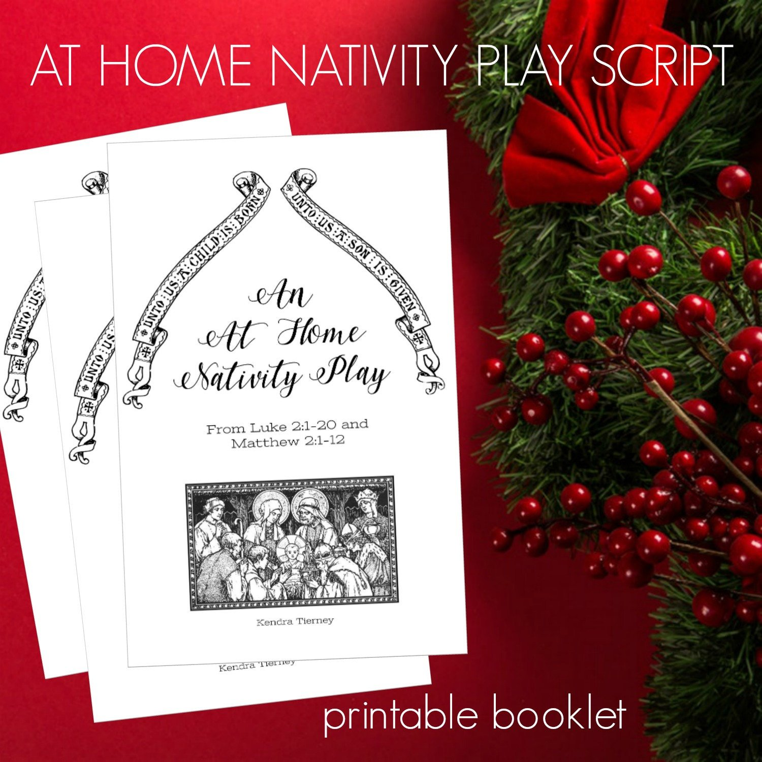 set of three printable booklets advent wreath prayers christmas novena nativity play script. Black Bedroom Furniture Sets. Home Design Ideas