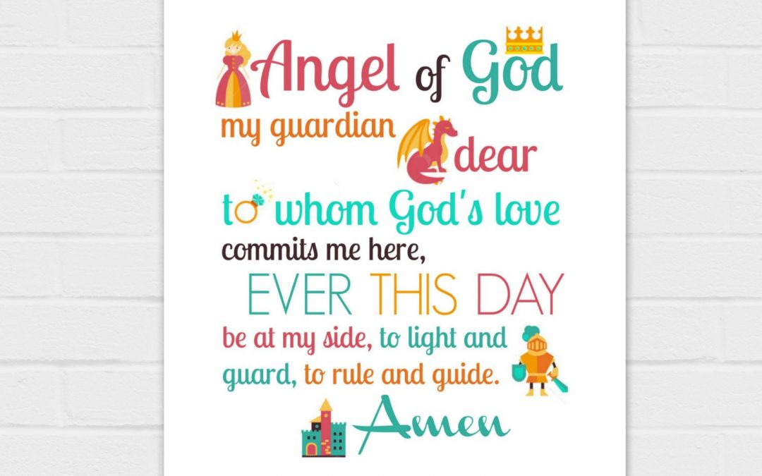 Guardian Angel Prayer: Fairy Tale Version {digital download} TWO prayers, two sizes, two color versions 8×10 and SQUARE