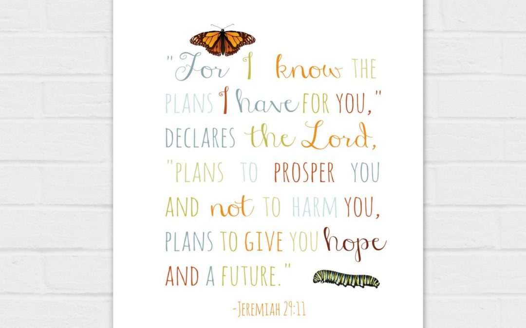 I Know the Plans I Have for You {digital download} color and black text versions