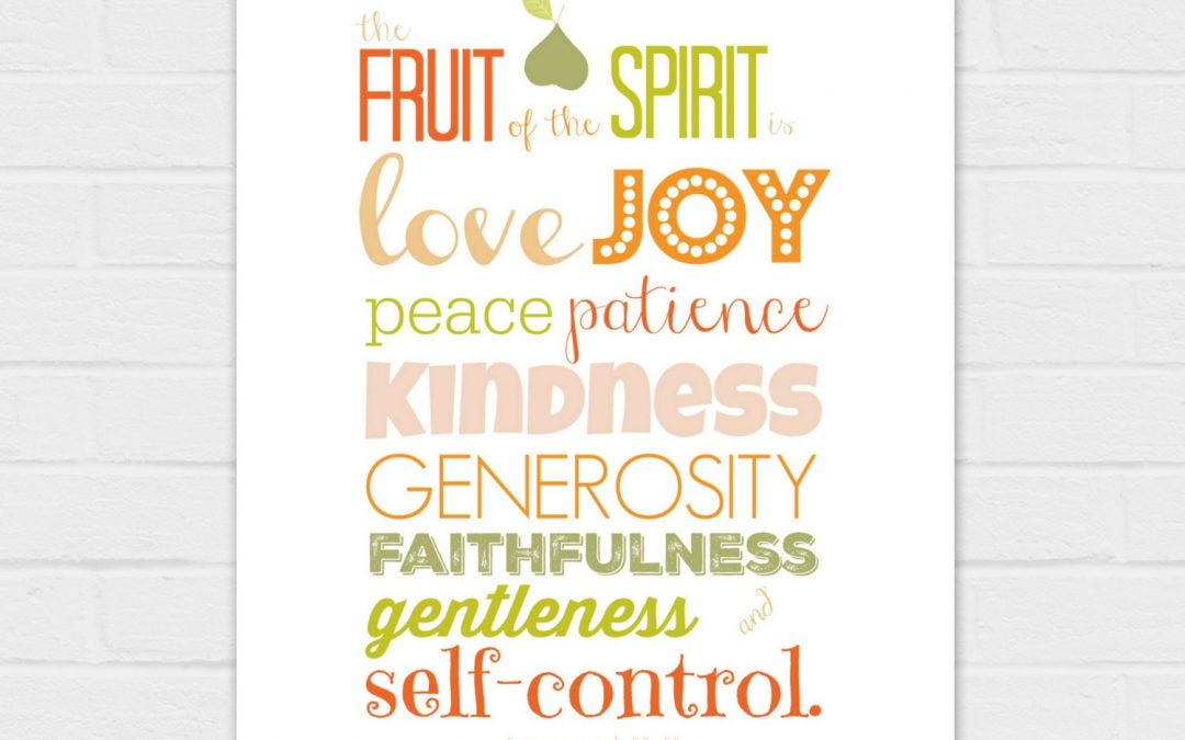 The Fruit of the Spirit {digital download} on white and peach in 8×10 and 11×14