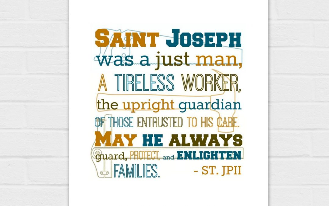 St. Joseph Was a Just Man {digital download}