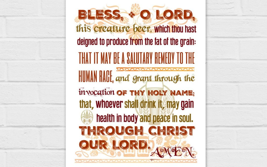 Blessing for Beer in red 8×10 {digital download}