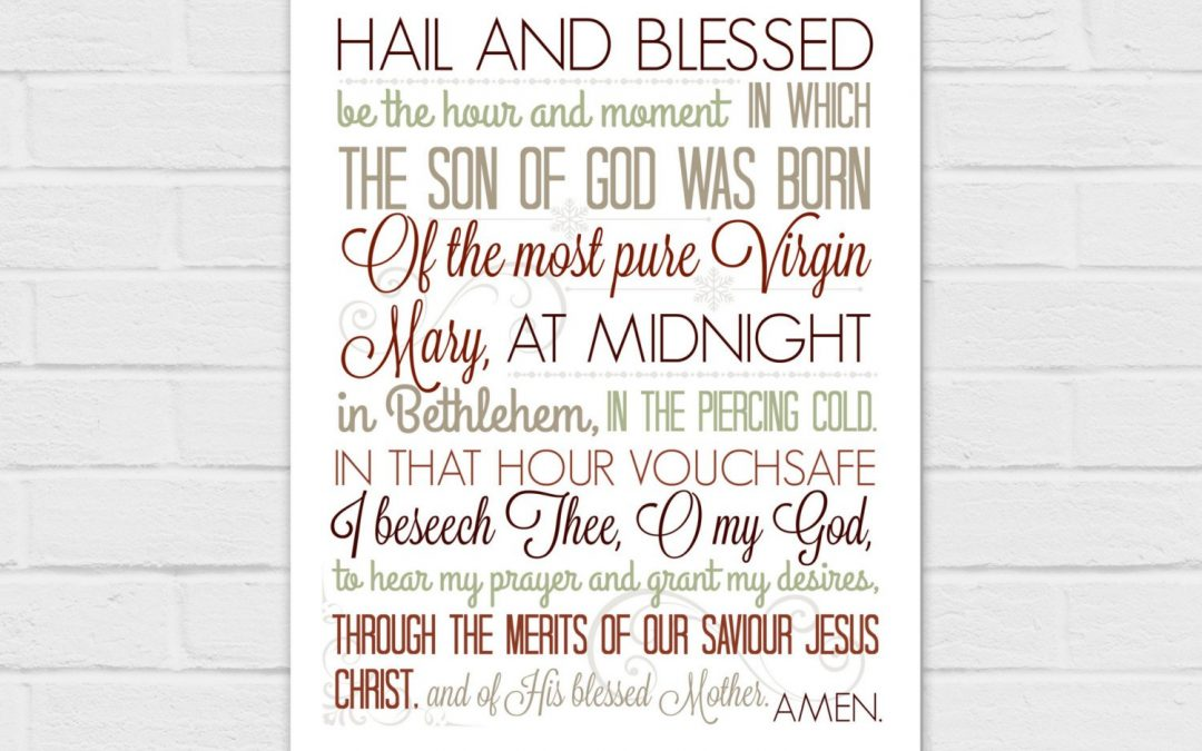 8×10 Christmas Anticipation Prayer in red {digital download}