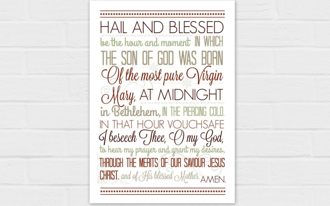 5×7 Christmas Anticipation Prayer in red {digital download}