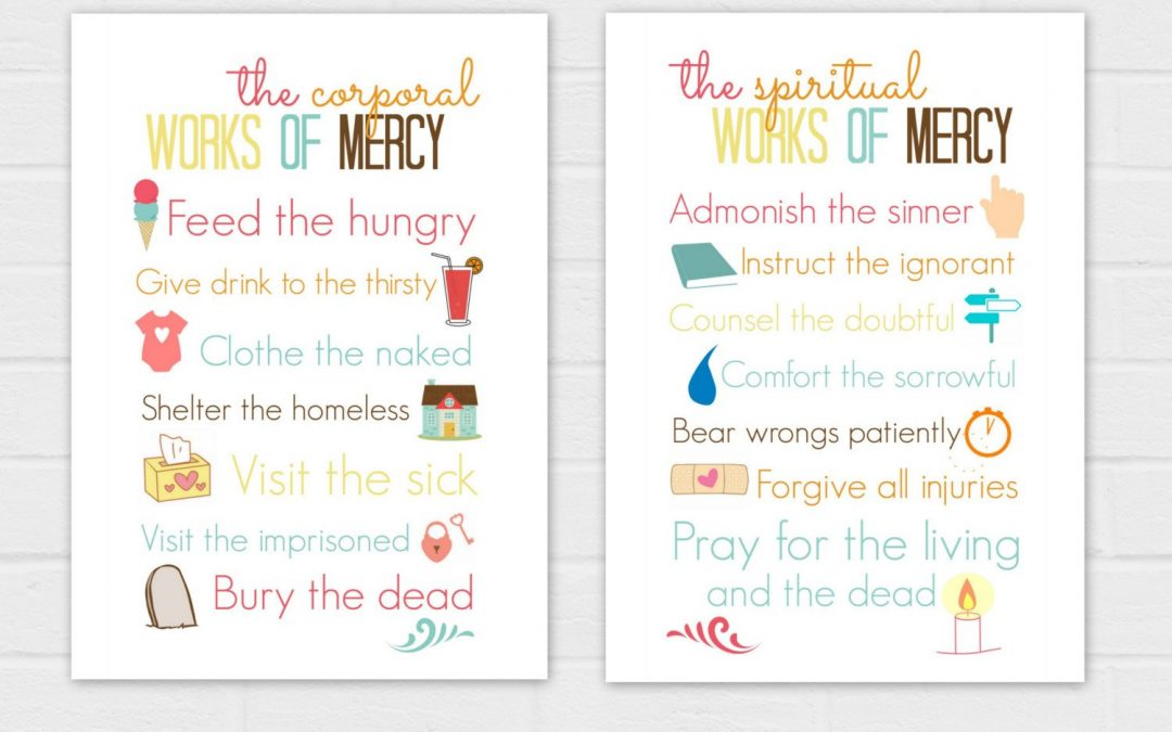 Corporal and Spiritual Works of Mercy Sets 5x7s {digital download}