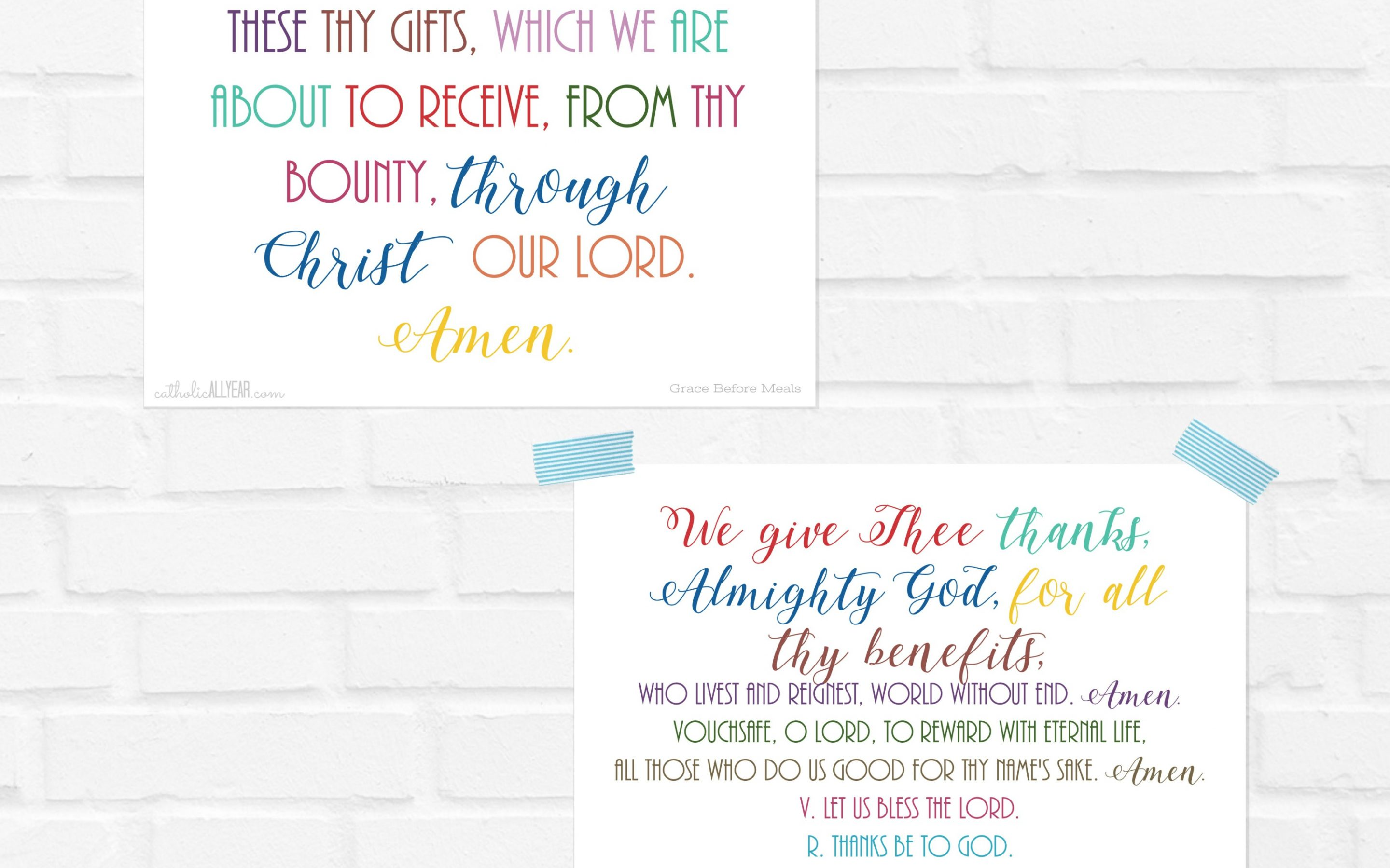 Grace Before and After Meals in Color and B&W versions {digital download}