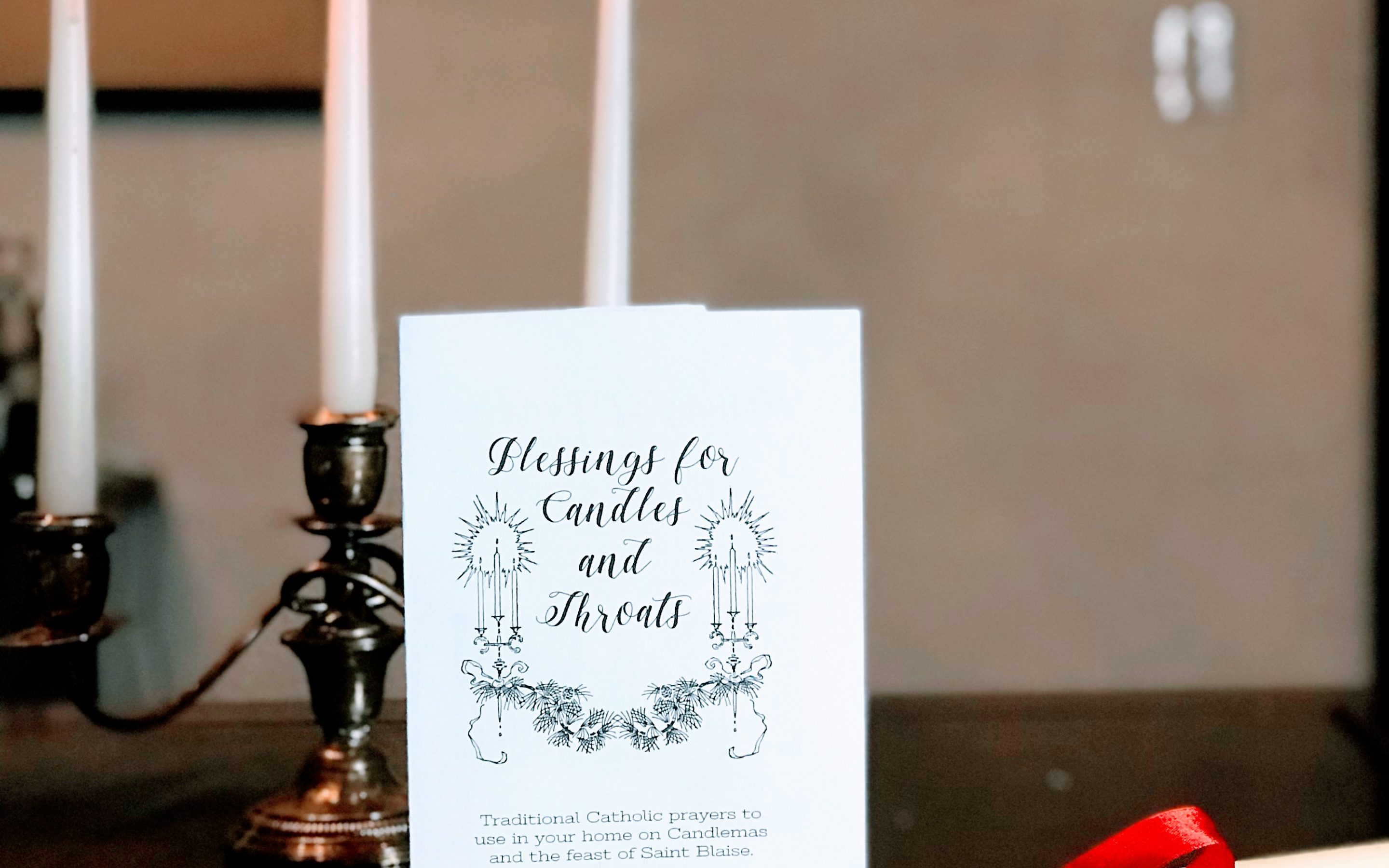 Blessings for Candles and Throats Printable Booklet *Digital Download*