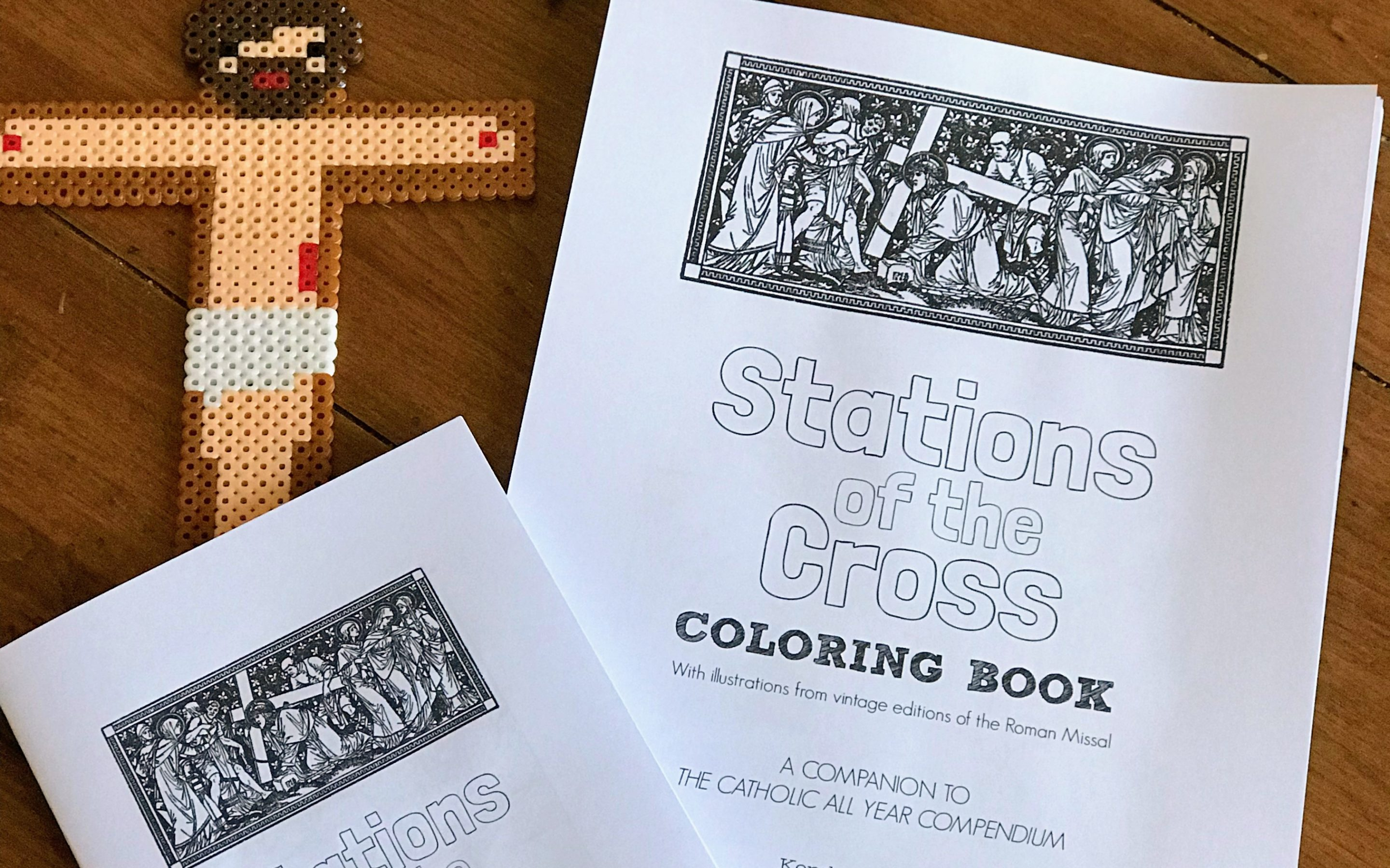 Stations of the Cross Printable Coloring Book/Coloring Pages for Adults and Kids {Digital Download}