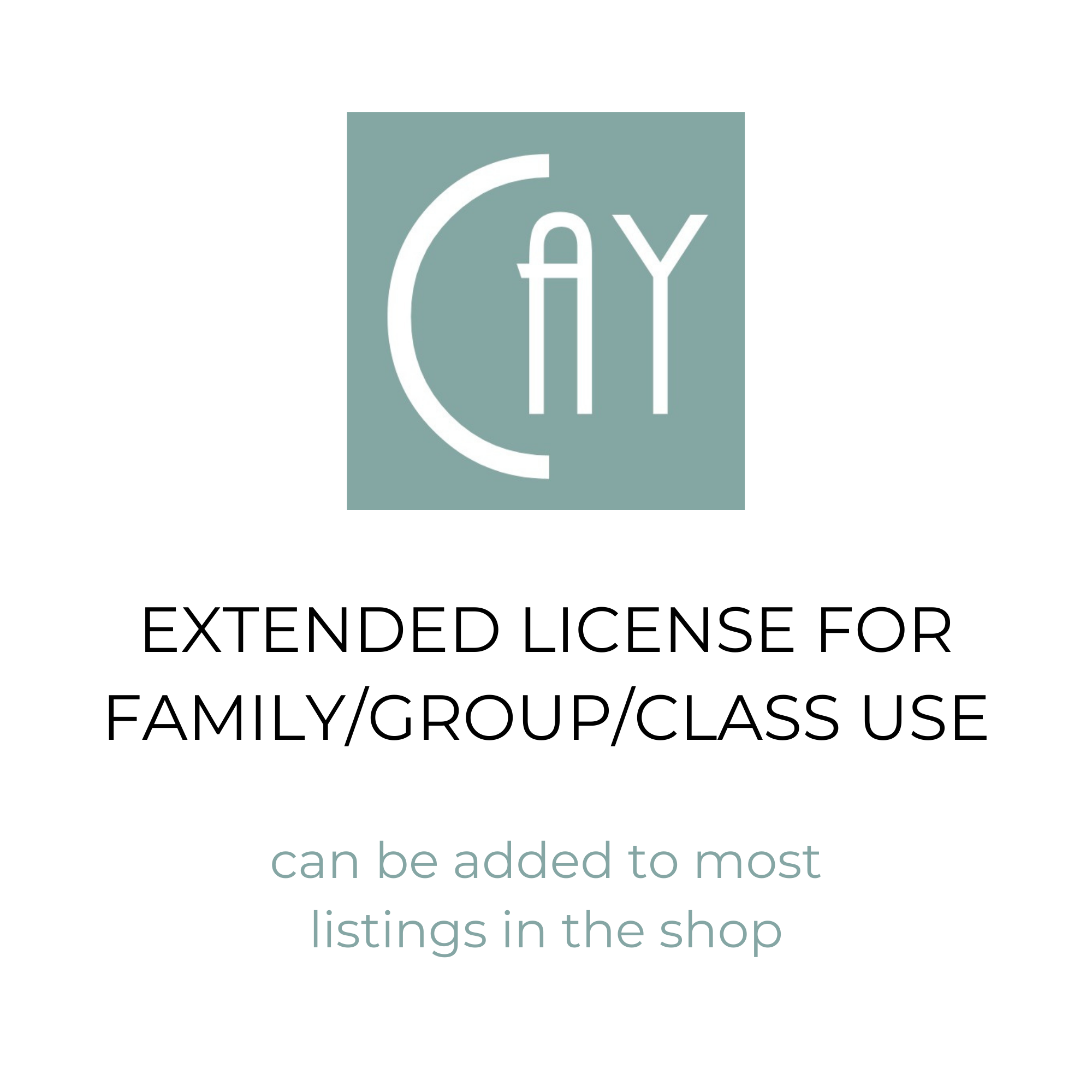 Extended License for Family/Group/Class Use