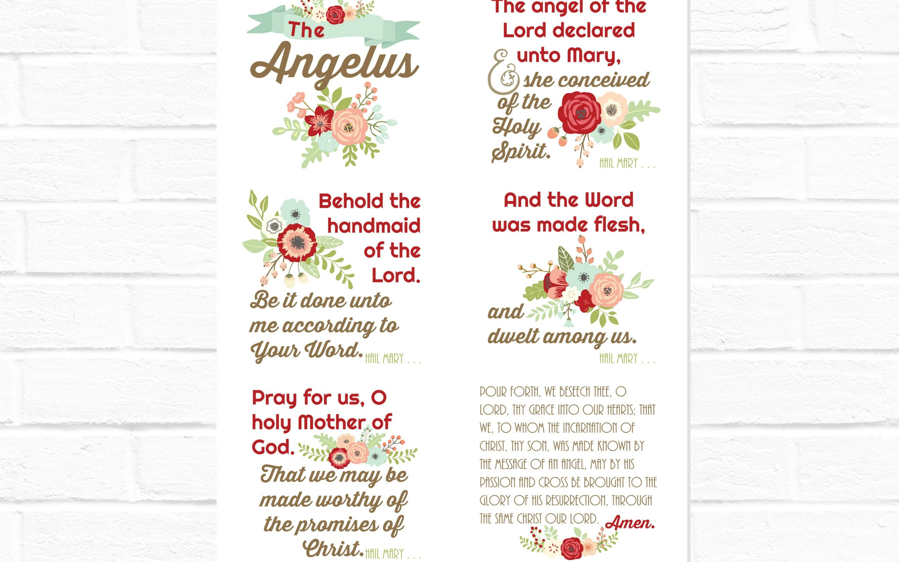 Angelus Floral Collage with and without border {digital download}