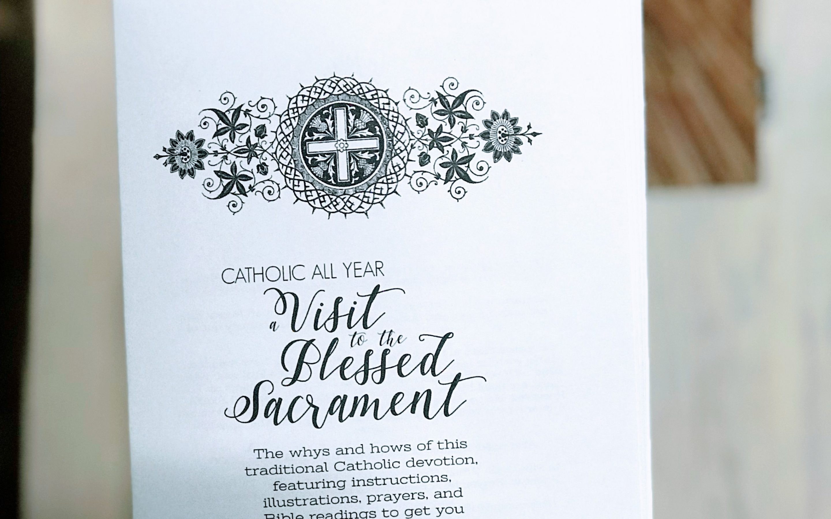 A Visit to the Blessed Sacrament Printable Booklet {Digital Download}