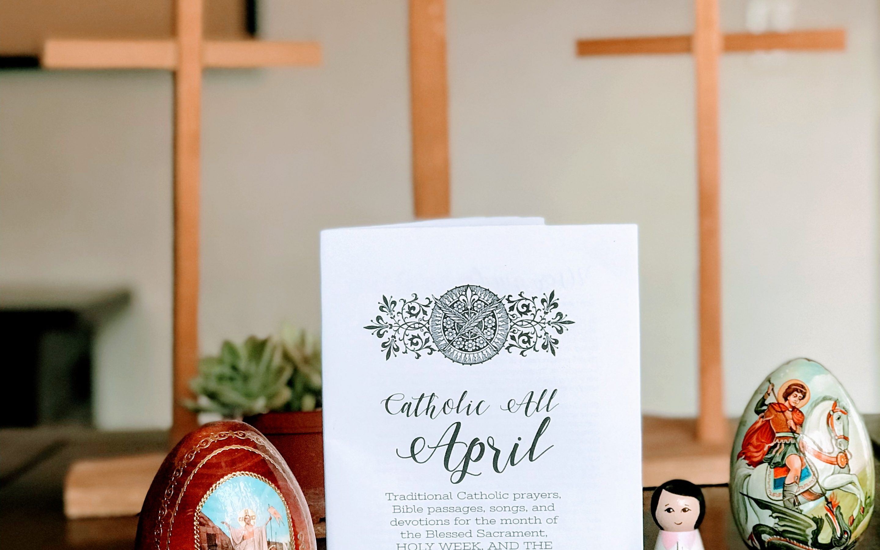Catholic All April Printable Booklet of Prayers, Blessings & Bible Readings {Digital Download}