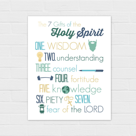 The Gifts of the Spirit {digital download} on white 8×10