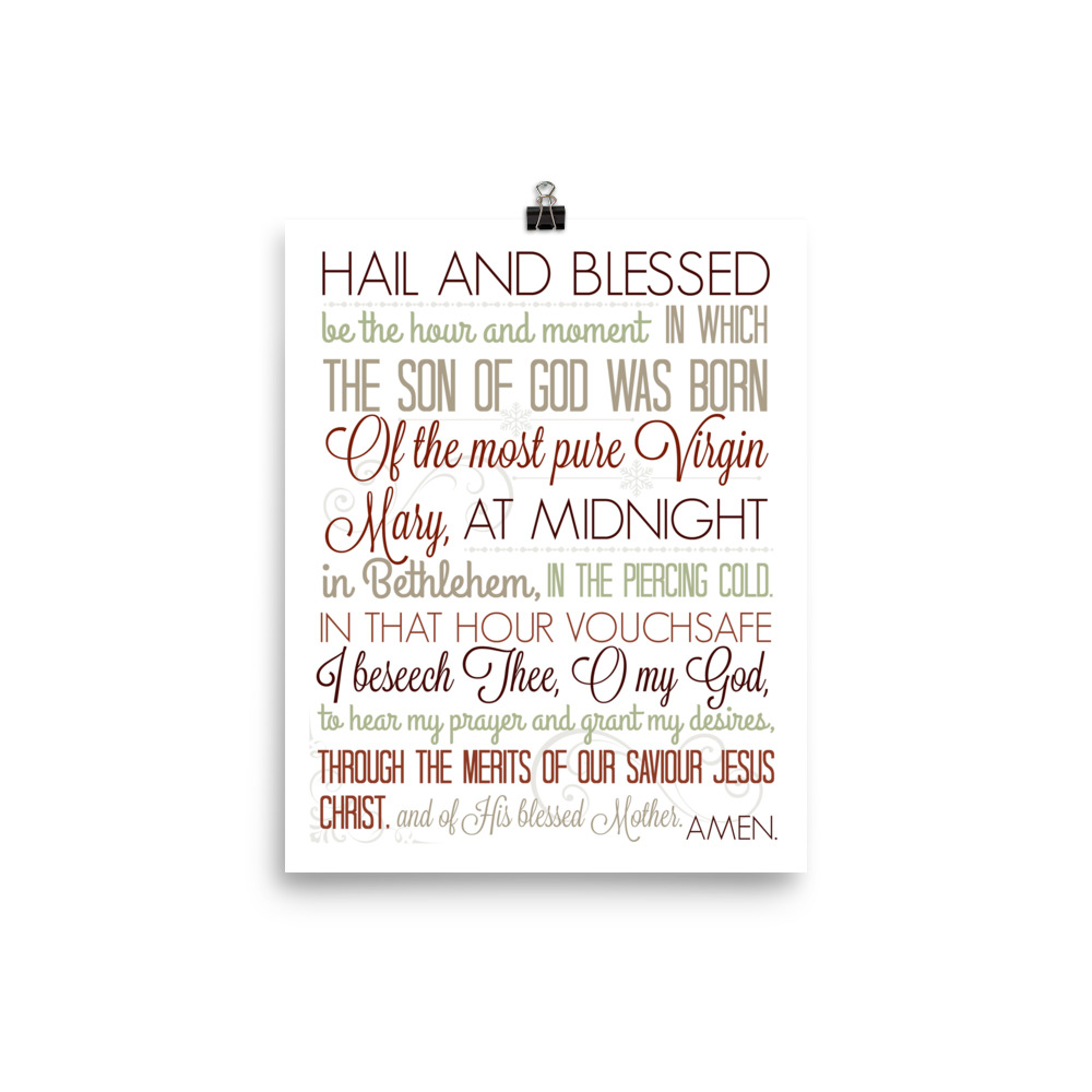 Christmas Anticipation Prayer in Red – Poster