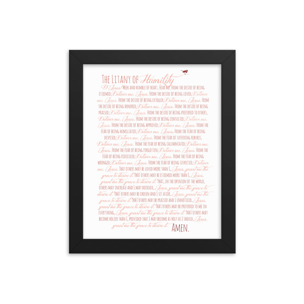 Litany of Humility Framed Poster
