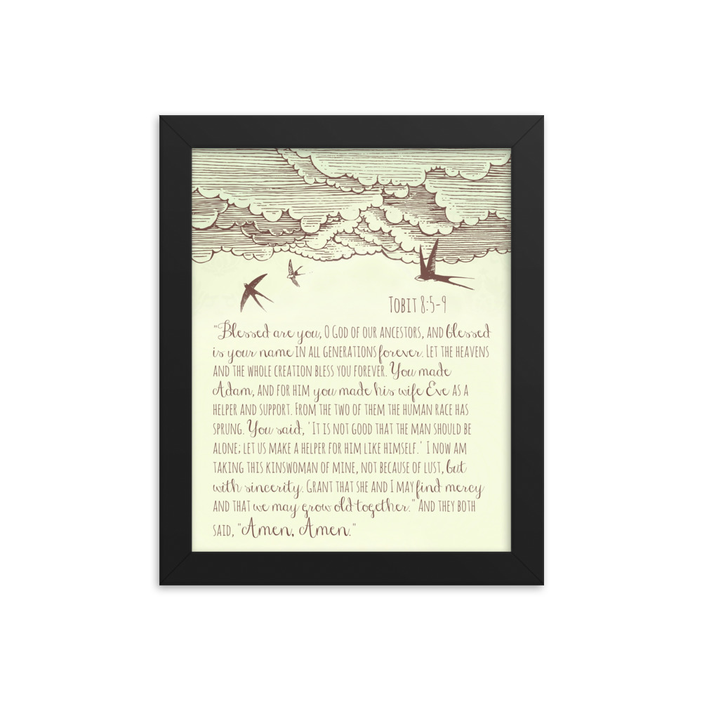 Marriage Prayer of Tobias and Sarah – Framed Poster (in)