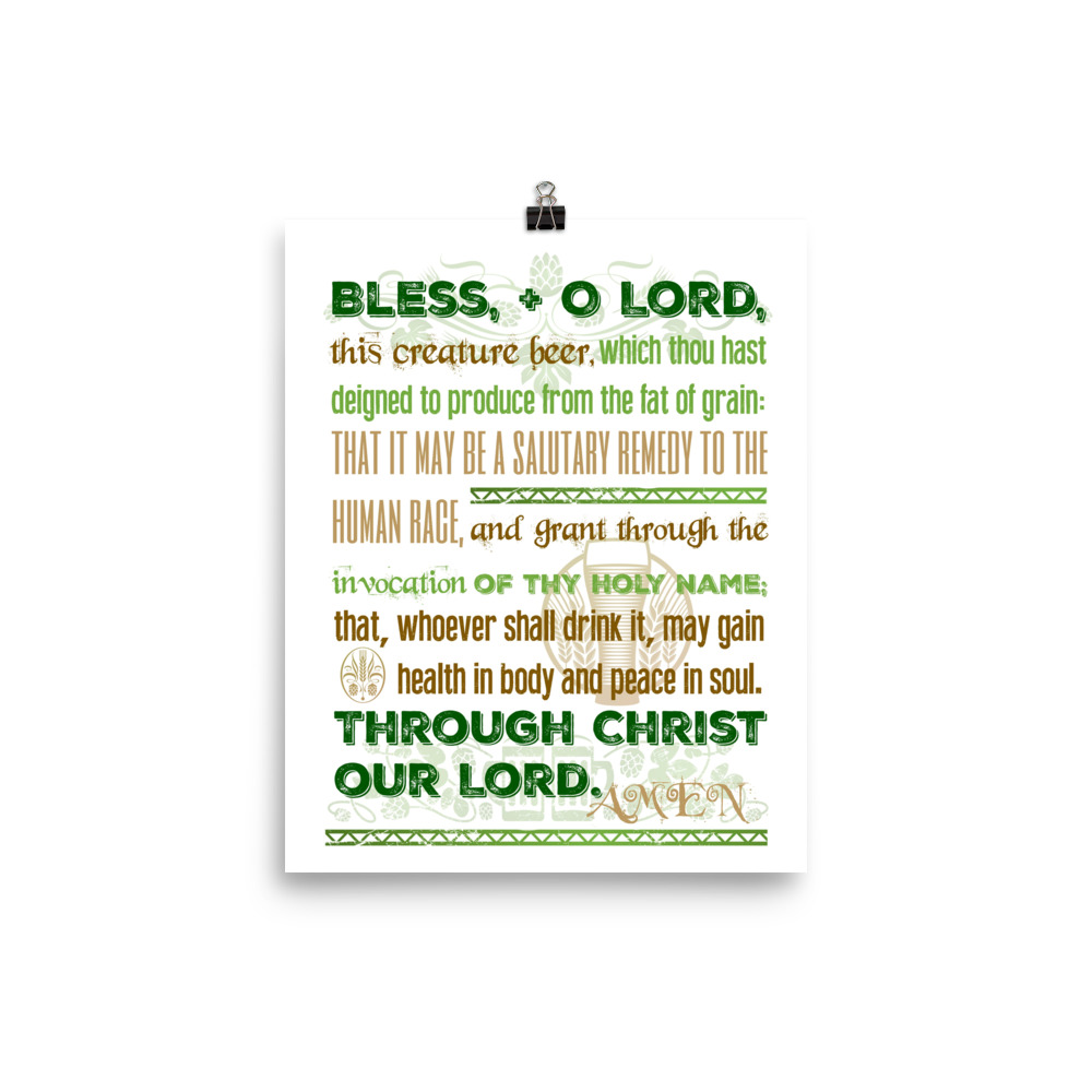 Blessing for Beer Poster (Green)