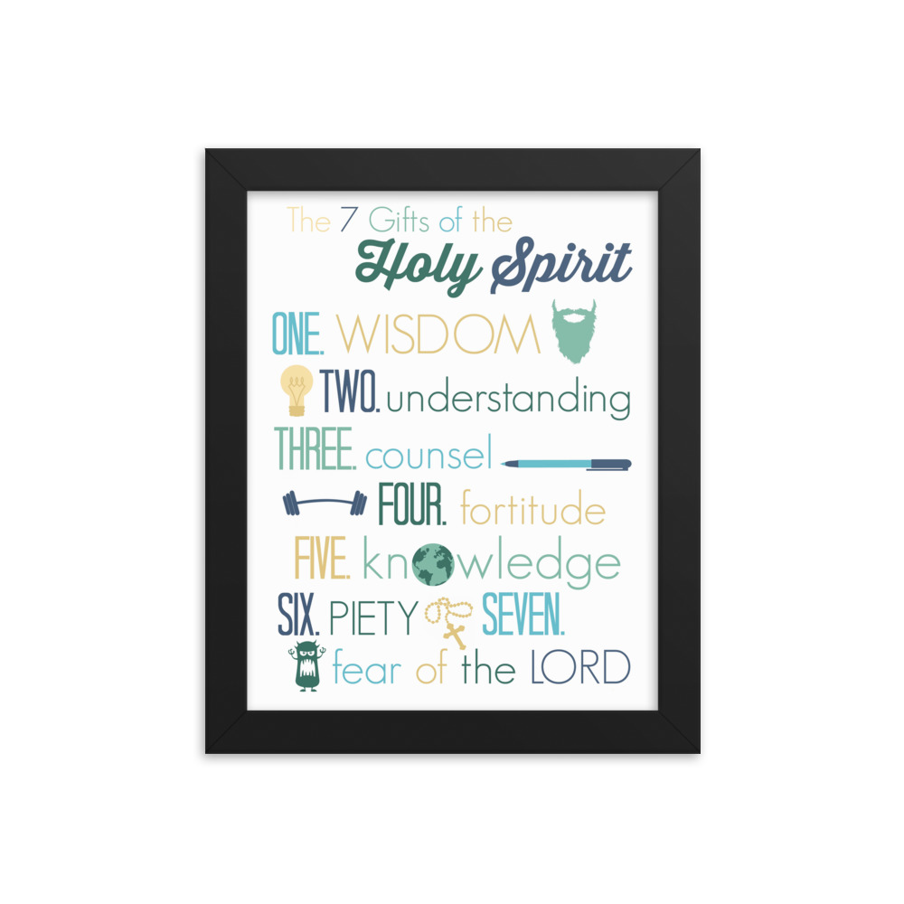 The Gifts of the Spirit – Framed Poster