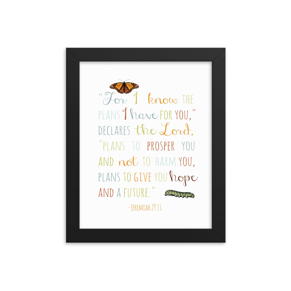 I Know the Plans I Have for You –  Framed Poster (in)