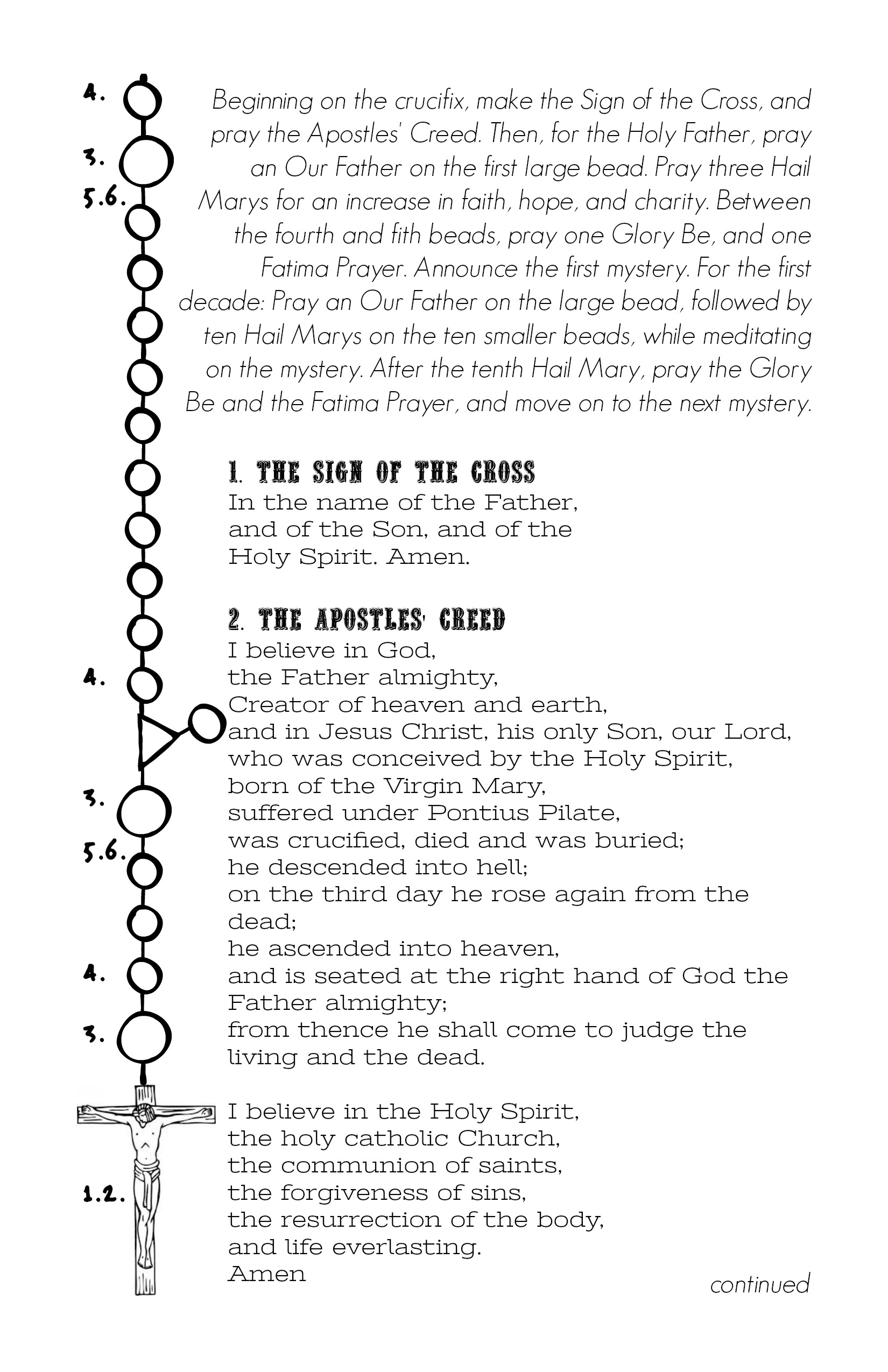 It's just a picture of Dashing How to Pray the Rosary Printable Booklet