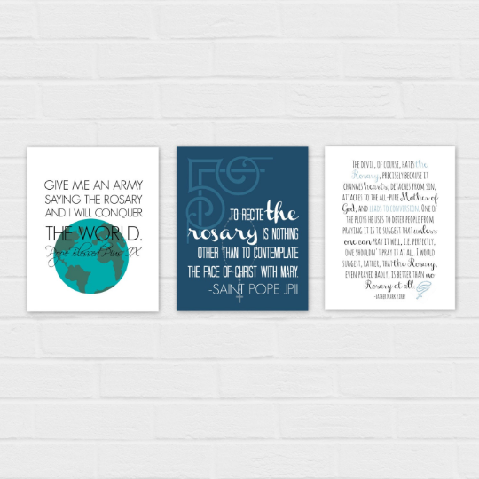 Rosary Printable Set {digital download}