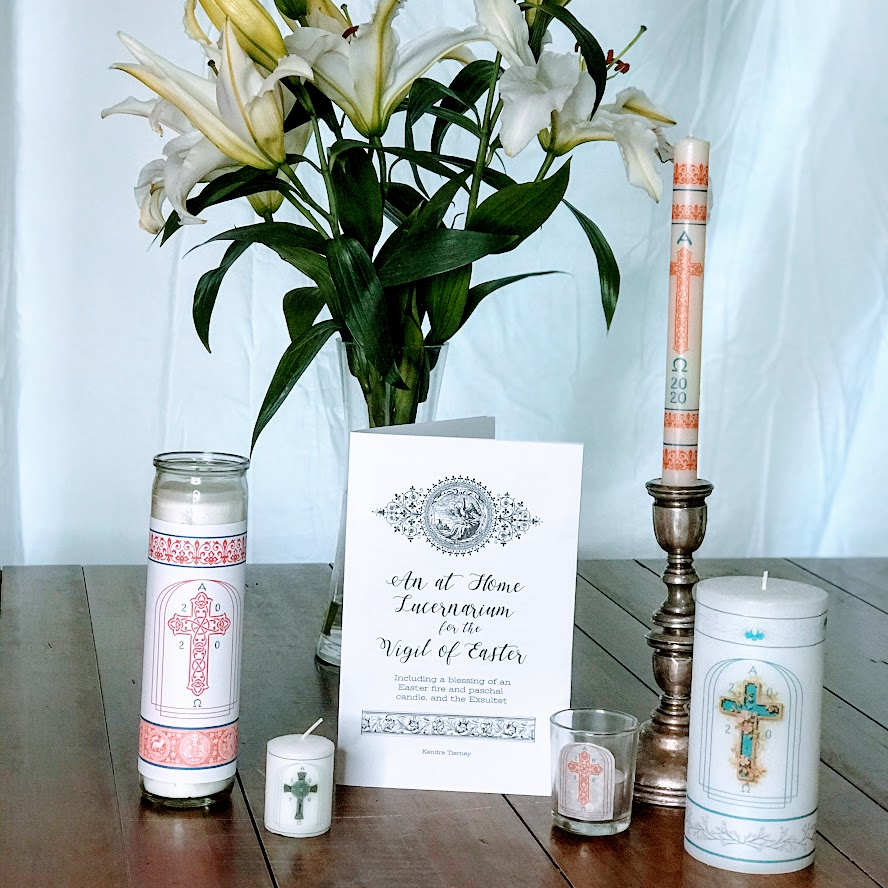 Holy Saturday at Home DIY Easter Candle and At Home Lucernarium & Exsultet for the Easter Vigil Booklet {Digital Download}