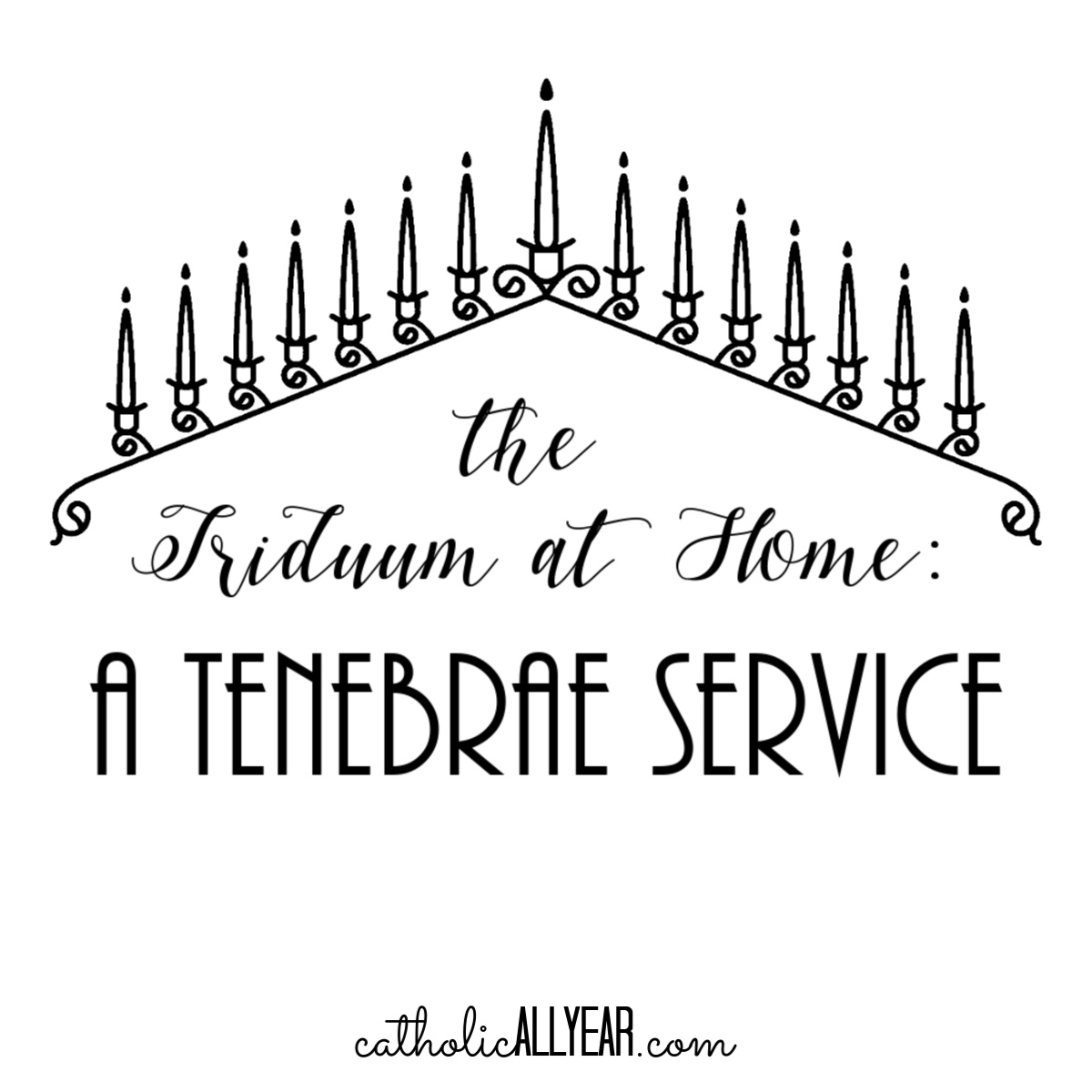 The Triduum at Home: a Tenebrae Service