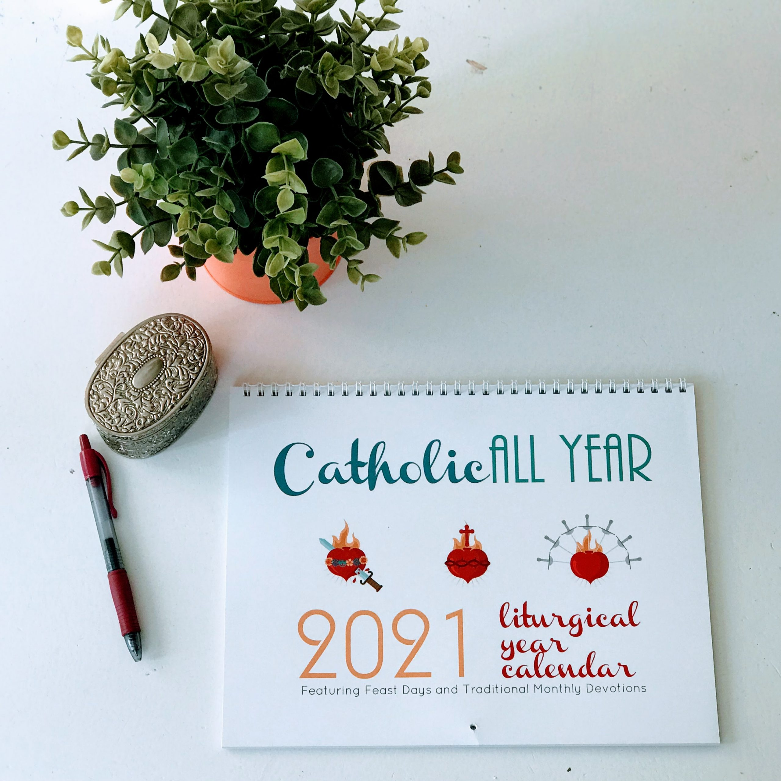 Catholic All Year 2021 Liturgical Calendar with Monthly ...