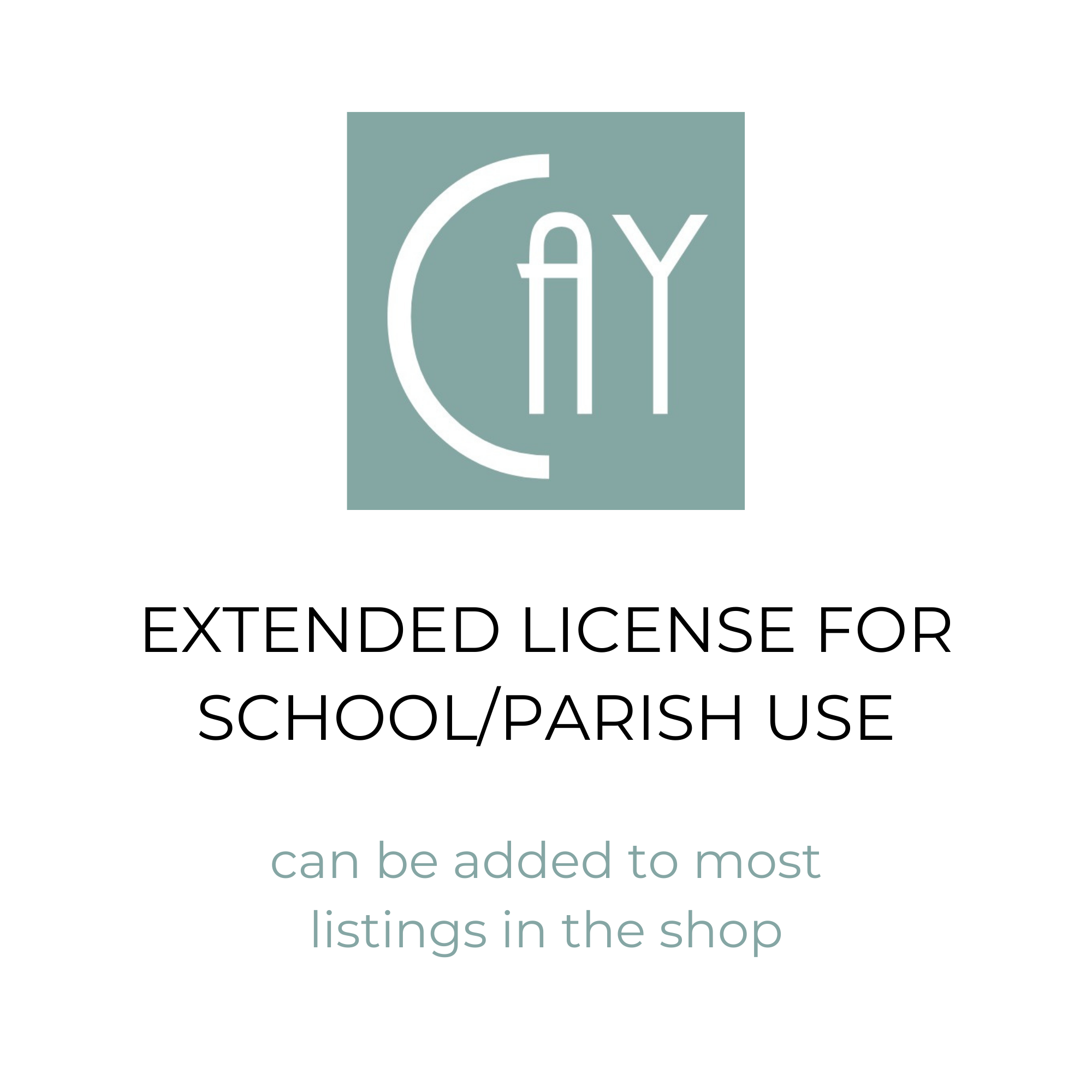 Extended License for School/Parish Use