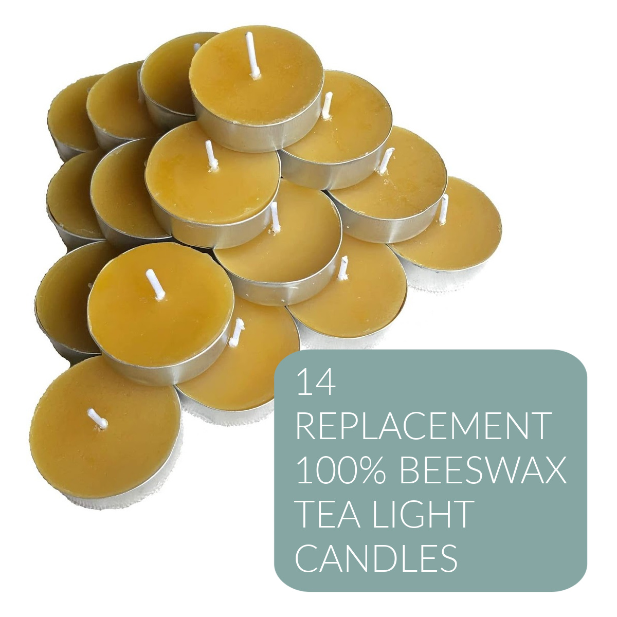 Replacement Beeswax Candle Sets (14 Tealight Candles)