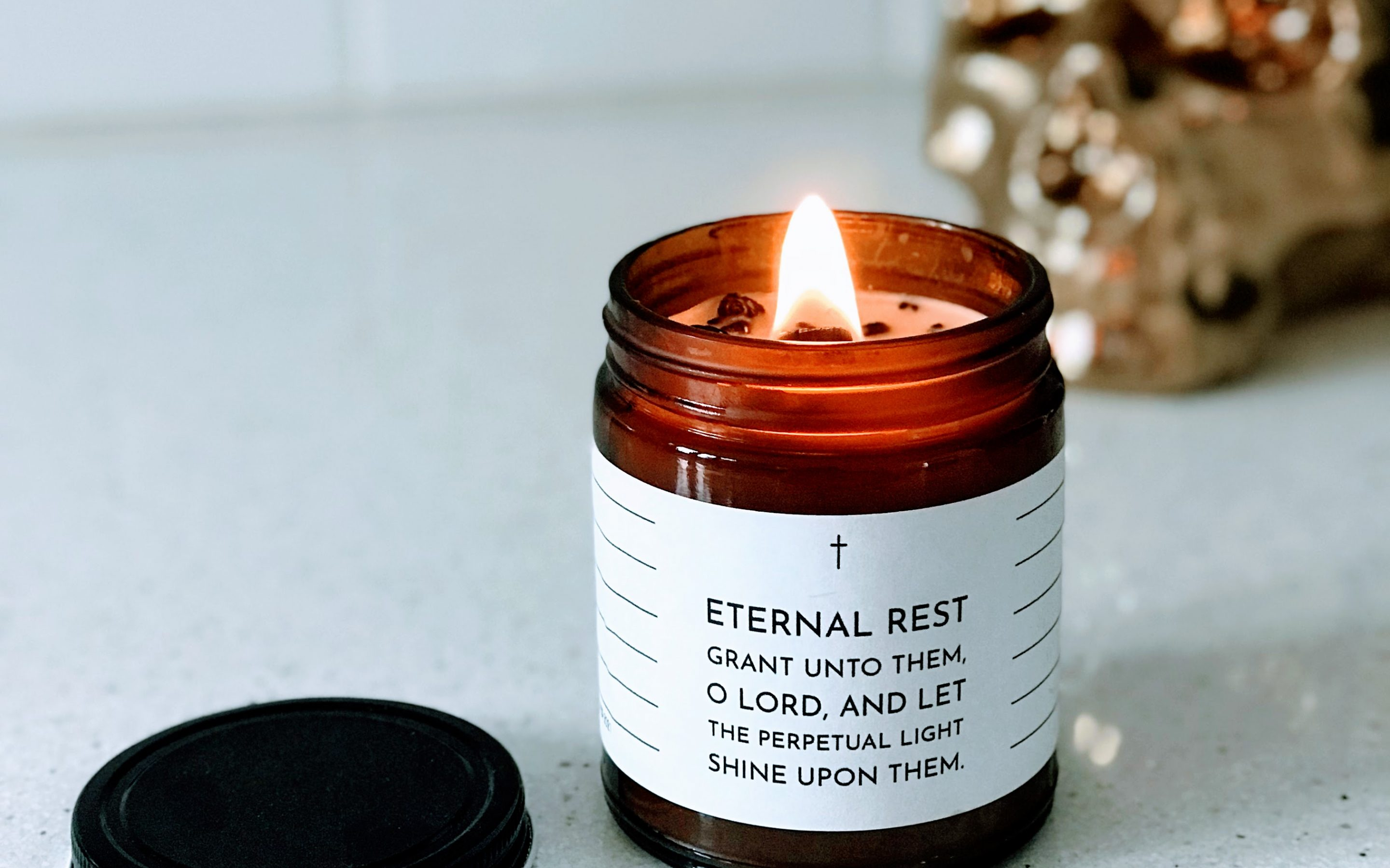 Write-On Eternal Rest Candle + Pen